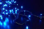 Ёлочная гирлянда на 100 синих светодиодов, 8 режимов, 11 метров