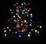 Гирлянда 30 (1см) белых переливающихся светодиодных шариков, 8 режимов, 4, 7 метра
