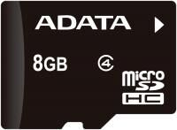 Карта памяти MicroSD 8 Gb 4 кл. A-Data с ад.