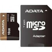 Карта памяти MicroSD 16 Gb 10 кл. A-Data c ад.