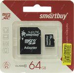 Карта памяти MicroSD 64 Gb 10 кл. PNY c ад. Ultra Android 80Mb/s