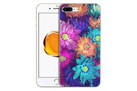 Силиконовый чехол с цветами для iPhone 7 Plus