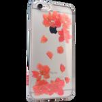 Силиконовый чехол с цветами для iPhone 6/6S